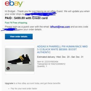 sports shoes ca5b7 0e1cf Human Race NMD Pharrell Sneakers